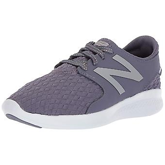 Kids New Balance Girls Coast V3 FuelCore Fabric Low Top Pull On Running Sneaker