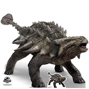 Découpe de carton officiel Ankylosaurus monde Jurassique / voyageur debout