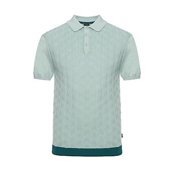 Merc London Halmore Cable Knitted Polo Shirt