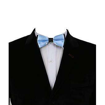 Boys Classic Neck Strap Adjustable Solid Sky Blue Bow Ties