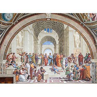 Rafael escuela de Atenas Vaticani museo colección Jigsaw Puzzle (1000 piezas)