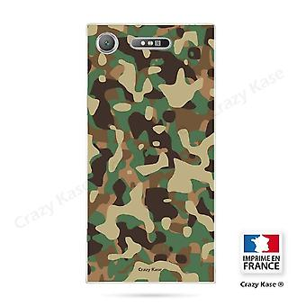 Romp voor Sony Xperia Xz1 flexibel militair camouflagepatroon