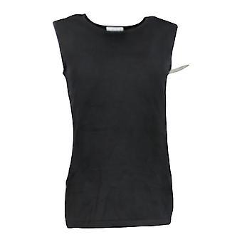 Joan Rivers Classics Coleção Women's Sweater Sleeveless Black A309633