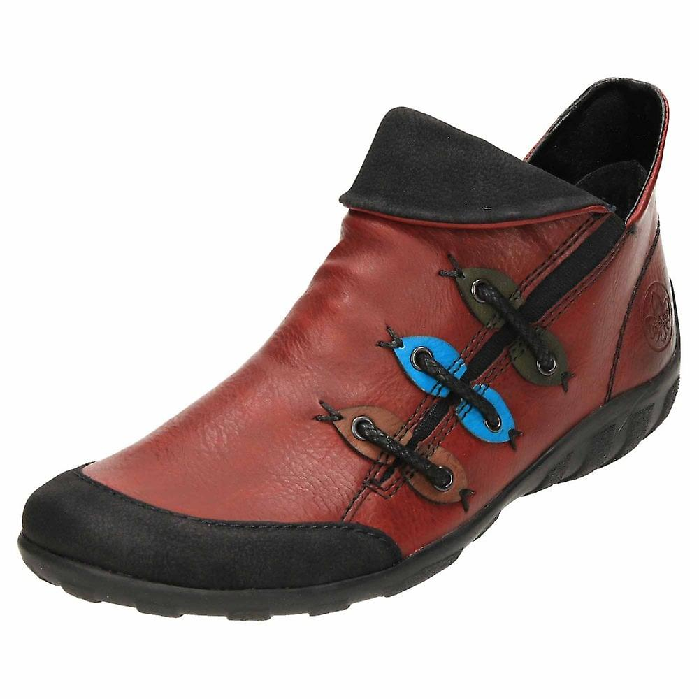 Rieker Zip Ankle Boots Flat Shoes Z6582-00 zaIdg
