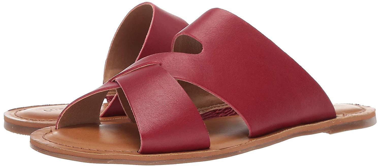 Lucky Brand Kobiety's LEELAN Flat Slide Sandała, Granat, 5.5 M US sZ6s2