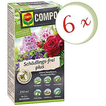 Sparset: 6 x COMPO Schädlings-frei plus (BIO), 250 ml