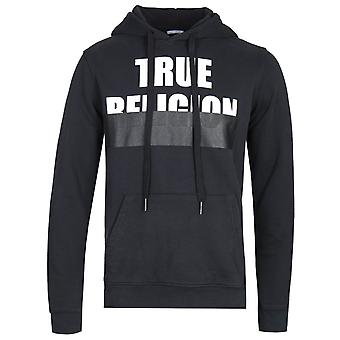 True Religion Embossed Logo Black Pullover Hoodie