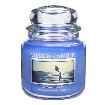 Village Candle 16oz Scented American Medium Jar Candle with Double Wick Summer Breeze