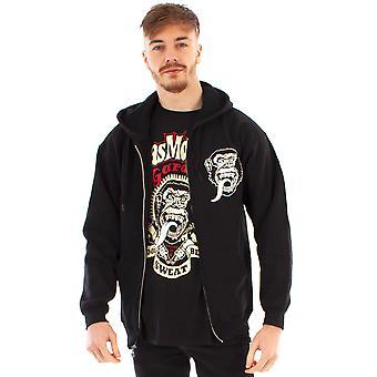 Gas Monkey Garage Hoodie Pour Hommes Noir Zip Up Fast N'Loud Hooded Jumper
