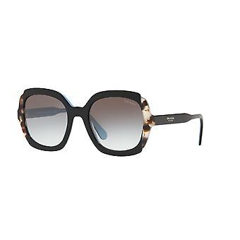 Prada SPR16U KHR0A7 Black Azure-Spotted Brown/Grey Gradient Sunglasses