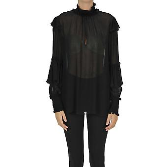 Dondup Ezgl030272 Women's Black Viscose Outerwear Jacket