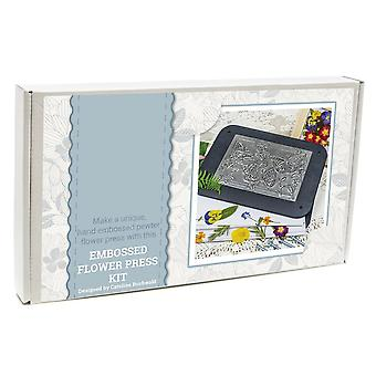 Embossed Metal Finished Flower Press Craft Kit - Boxed Gift