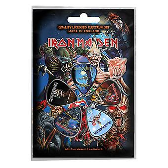 Iron Maiden Plectrum Pack Guitar pick x 5 logo Albums book of souls Official