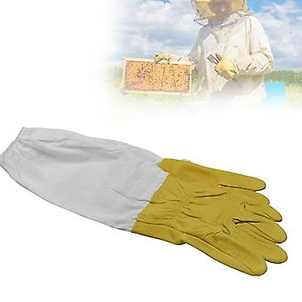 Protective Sleeves Ventilated Sheepskin Beekeeping Gloves And Cloth