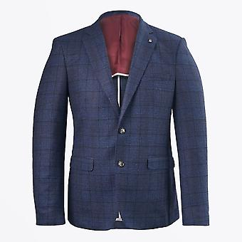 Thomas Maine  - Wool Check Blazer - Blue