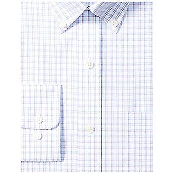 BUTTONED DOWN Men's Classic Fit Button-Collar Pattern Non-Iron Dress Shirt, P...