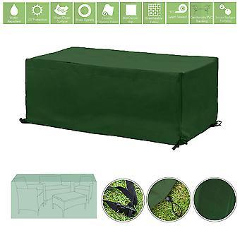 Protection de couverture de meubles extérieurs résistants à l'eau verte pour ensemble de patio de 3 pièces