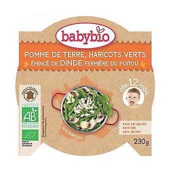 Menü Kartoffelgrüne Bohnen Bio-Truthahn (ab 12 Monaten) None