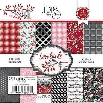 LDRS Creative Lovebirds 6x6 Inch Paper Pack