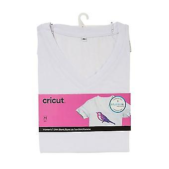 Cricut camiseta en V-Neck en blanco XXL