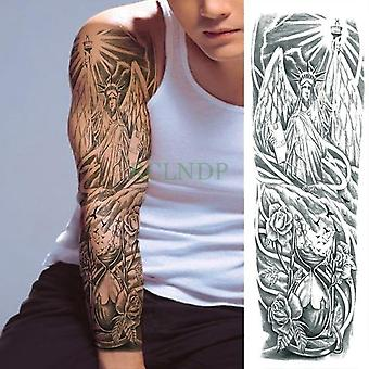 Waterproof Temporary Tattoo Sticker - Geometric Full Arm Large Size Sleeve,