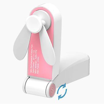 Tavarasertifioitu® C28 ladattava kannettava tuuletin - Akku käsituuletin Vaaleanpunainen