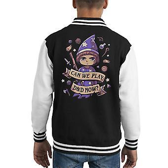 Fremmede ting vil de kloke kan vi spille d og d nå Kid ' s Varsity jakke