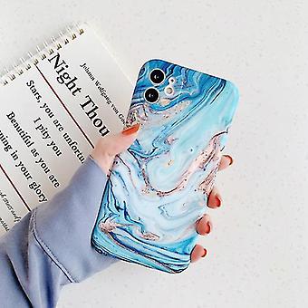 מוסקדו iPhone 11 פרו במקרה שיש מרקם - Shockproof מבריק מקרה גרניט כיסוי Cas TPU