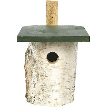 CJ Wildlife Birch Log Nest Box 32mm Hole (fsc)
