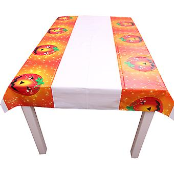 Halloween pumpkin waterproof tablecloth, Halloween party living room dining room tablecloth