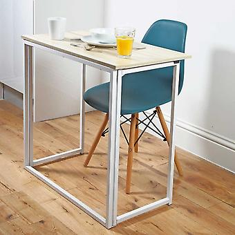 Folding Utility Table | Space Saving Desk for Work/Study | L80 x W45 x H74cm | Easylife Group