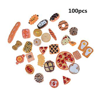 10pcs Home Craft Mini Food Ornament Miniatuur Decor- Doll House Accessoires (10pcs Random Send)