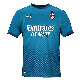 2020-2021 AC Milan Puma Tredje Fotballskjorte