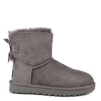 UGG ميني بيلي القوس الثاني أحذية جلد الغنم رمادي