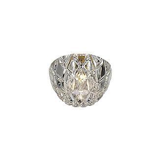 Inspiriert Diyas - Ria - Runde Einbau Downlight G9 Diamant facettierten poliert endielischen Chrom, Kristall