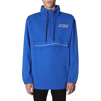 Mcq Door Alexander Mcqueen 565164rnh344445 Men's Blue Cotton Sweatshirt