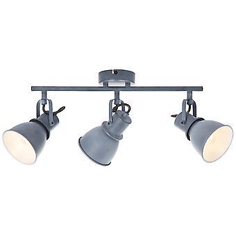 BRILLANTE Lámpara Bogart Spot Tube 3flg Gris Hormigón ? 3x D45, E14, 25W, apto para lámparas de caída (no incluidas) Escala