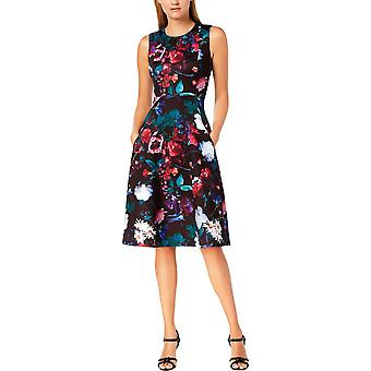 Calvin Klein | Floral Scuba Midi Fit & Flare Dress