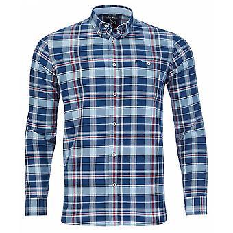 RAGING BULL Raging Bull Check Oxford Long Sleeve Shirt