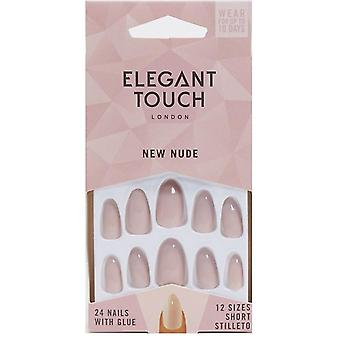 Elegant Touch Perfect Colored False Nails Collection - New Nude (24 Short Stilleto Nails)