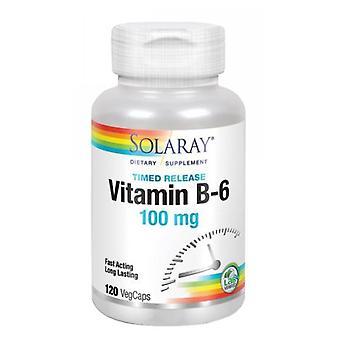 Solaray Vitamina B-6, 100 mg, 120 Tappi