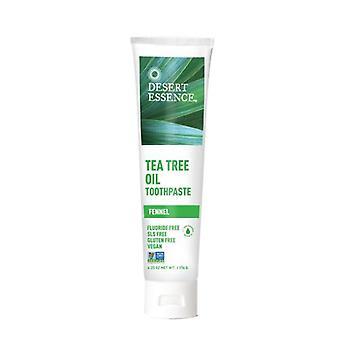 Desert Essence Tea Tree Oil Toothpaste, Fennel, 6.25 Oz