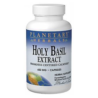 Planetary Herbals Holy Basil, 450 mg, 60 Caps