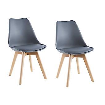 Grå Trapani stol, sæt af 2 Saska Garden