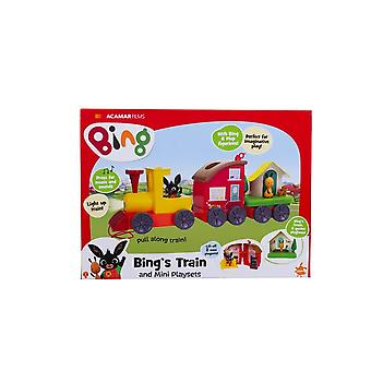 bing's lights and sounds train with mini playset for ages 3+