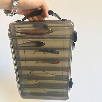 Large-capacity Fishing Tackle Box Double-decker Sub-bait Portable Bait Gear Storage