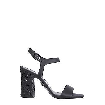 Michael By Michael Kors 40s8toha1d001 Women's Black Satin Sandals