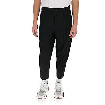 Homme Plissé By Issey Miyake Hp08jf15115 Men's Black Polyester Pants