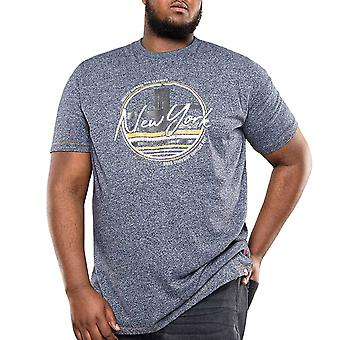 Duke D555 Hombres Big Tall King Size Harbour Graphic Crew Camiseta Top - Navy