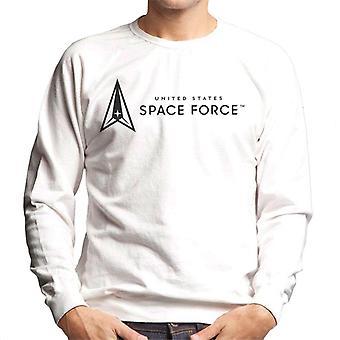U.S. Space Force Dark Text Alongside Clear Logo Men's Sweatshirt